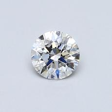 0.41-Carat Round Diamond Ideal F VS1