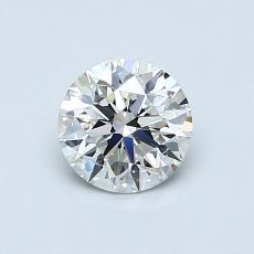 0.71-Carat Round Diamond Ideal H VS1