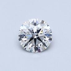 0.53-Carat Round Diamond Ideal D IF