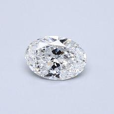 0.40 Carat 椭圆形 Diamond 非常好 D IF