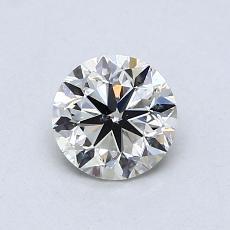 推薦鑽石 #3: 0.75  克拉圓形切割