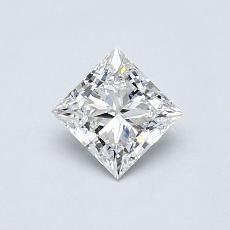 0.52-Carat Princess Diamond Very Good F VVS1