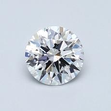 0,75-Carat Round Diamond Ideal D VVS2