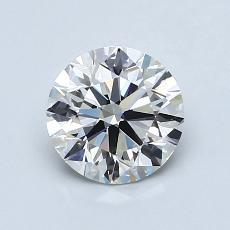1.09-Carat Round Diamond Ideal I VVS2