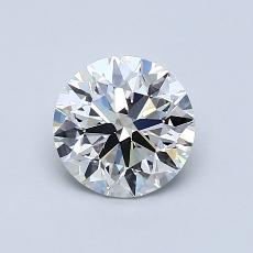 1.00-Carat Round Diamond Very Good F SI1