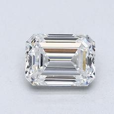 0,86-Carat Emerald Diamond Very Good E VVS1