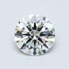 0,90-Carat Round Diamond Ideal I VS2