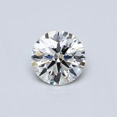 0,40-Carat Round Diamond Ideal H IF