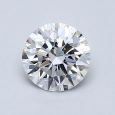 0.75-Carat Round Diamond Ideal D VVS2