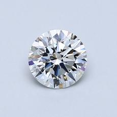 0.62-Carat Round Diamond Ideal D VVS2