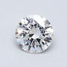 0.70-Carat Round Diamond Ideal D VVS1