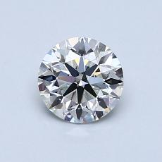 0,76-Carat Round Diamond Ideal G VS1