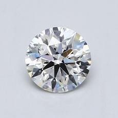 0.71-Carat Round Diamond Ideal H VVS2
