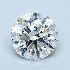 1.40-Carat Round Diamond Ideal I VVS2
