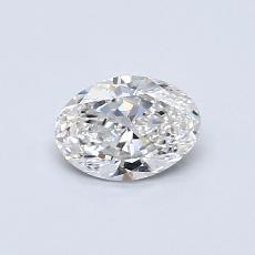 0.50 Carat 橢圓形 Diamond 非常好 F VVS2
