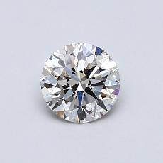 0.60 Carat 圆形 Diamond 理想 I VS1