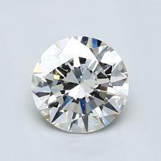 1,00-Carat Round Diamond Ideal I SI1