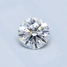 0.51-Carat Round Diamond Ideal E SI1