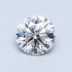 0.80-Carat Round Diamond Ideal H SI1