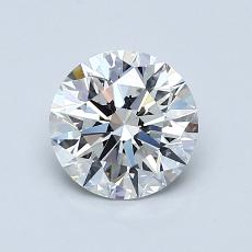 1.03-Carat Round Diamond Ideal F VVS1