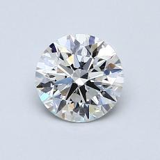 0,80-Carat Round Diamond Ideal G VS1