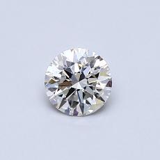 Pierre recommandée n°2: Diamant taille ronde 0,41 carat