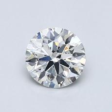 0.80 Carat 圓形 Diamond 理想 H SI1