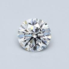 0.52 Carat 圓形 Diamond 理想 D VVS1