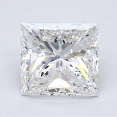 1.50-Carat Princess Diamond Very Good G SI2