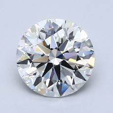 1.70 Carat 圆形 Diamond 理想 H IF