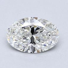 1,20 Carat Ovale Diamond Très bonne G VVS2