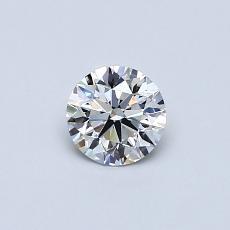 0.41 Carat 圆形 Diamond 理想 G VVS1