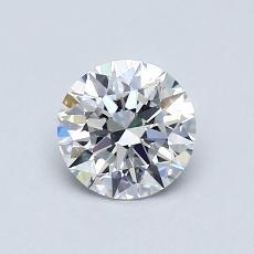 0,72-Carat Round Diamond Ideal D VVS1