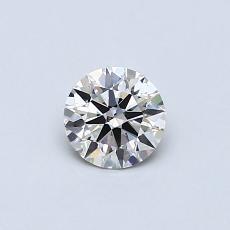 0,40-Carat Round Diamond Ideal J VS2