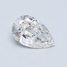 0.55 Carat 梨形 Diamond 非常好 E VVS2