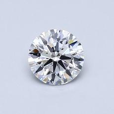 0.58-Carat Round Diamond ASTOR D VS1