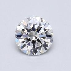 0,73-Carat Round Diamond Ideal F VVS1