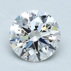 2.01-Carat Round Diamond Ideal E VVS2