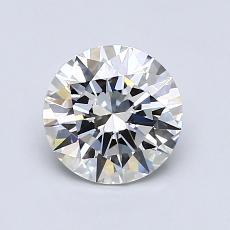 1,00 Carat Rond Diamond Idéale G IF