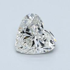 0,90 Carat Coeur Diamond Très bonne H SI1