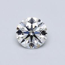 0.53-Carat Round Diamond Ideal E VVS2