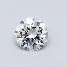 0,50-Carat Round Diamond Ideal E VVS2