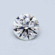 0.52-Carat Round Diamond Ideal D VVS2