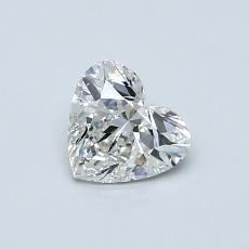 0.54-Carat Heart Diamond Very Good G SI1