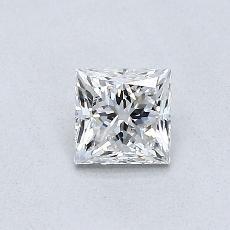 0.50-Carat Princess Diamond Good E VVS2
