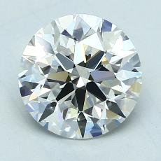 2.01-Carat Round Diamond Ideal E VS1