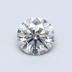 0.61-Carat Round Diamond Ideal I SI2