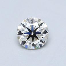 0.50-Carat Round Diamond Very Good H VS2