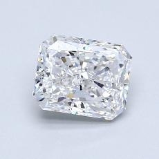 1,01-Carat Radiant Diamond Very Good D VS2