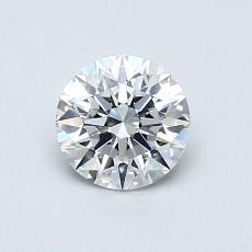 0,70-Carat Round Diamond Ideal E VS1